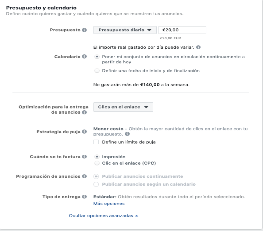 Optimizar Facebook Ads