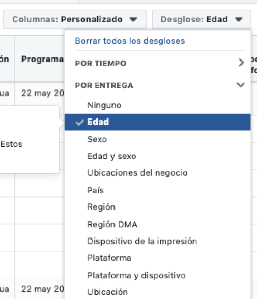 Edad Facebook Ads