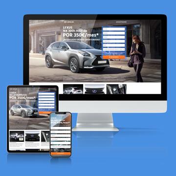 portfolio lexus landing page