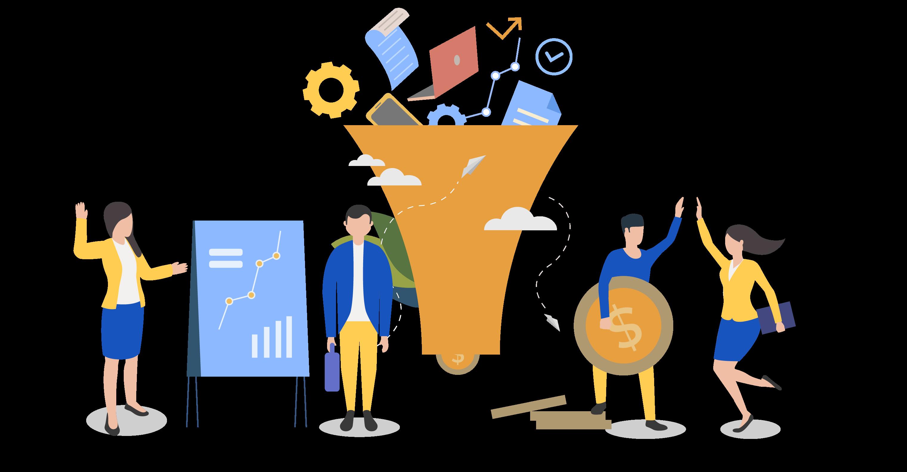contenido para etapas del funnel de ventas